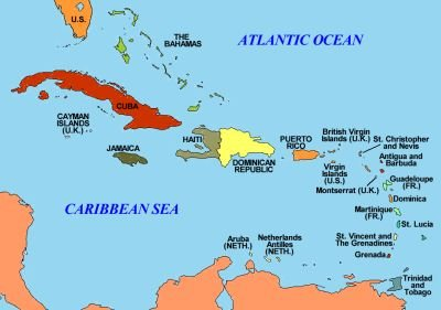 USCaribbean Relations IPS - Us and caribbean map