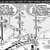 Border Boondoggle Cartoon