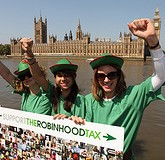 Robin Hood Tax rally, London