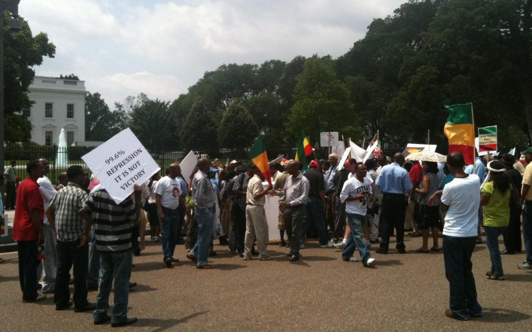 Protesters Speak Out Against U.S. Support for Ethiopian Government