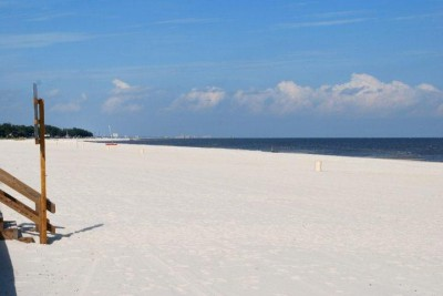 Biloxi beach before the oil