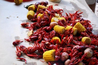 Crawfish boil in Mississippi.