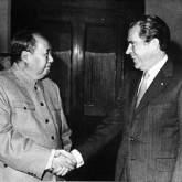 When Nixon met Mao in 1972. Via 38 North.