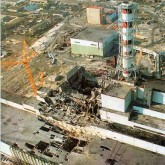 Chernobyl after the explosion.