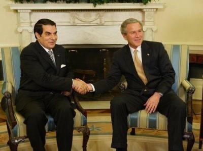 George W. Bush with Tunisian leader Ben Ali