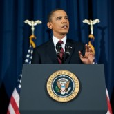 President Obama delivers a speech on Libya.