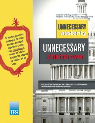 Unnecessary Austerity, Unnecessary Government Shutdown