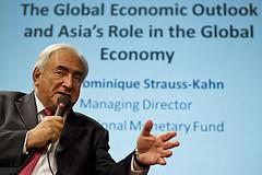 Dominique Strauss-Kahn speaking in Singapore. Photography by International Monetary Fund