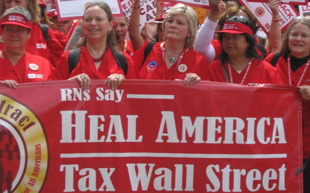 "Nurses Join Call to ""Tax Wall Street"""