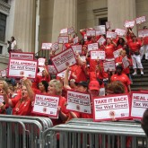 U.S. Nurses Bring Global Call to Tax Speculators to Wall Street