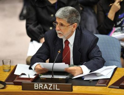 Former Brazilian Foreign Minister Celso Luiz Nunes Amorim at the UN