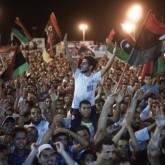 Libyan crowd AFP
