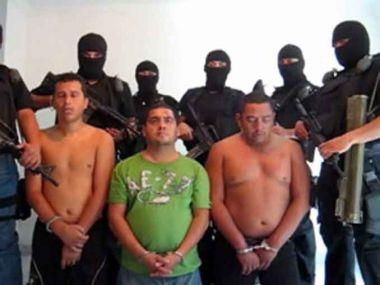 The vigilante Mata Zetas (in masks) target leading narcotraffickers