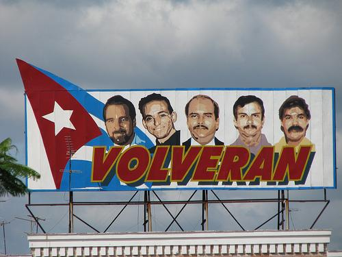 They will return: a billboard in Cuba honors the Cuban Five. Photo by smithdm3 (flicker).