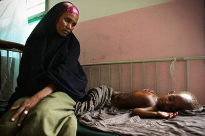 Somali mother and malnourished child; courtesy UN Photo/Stuart Price