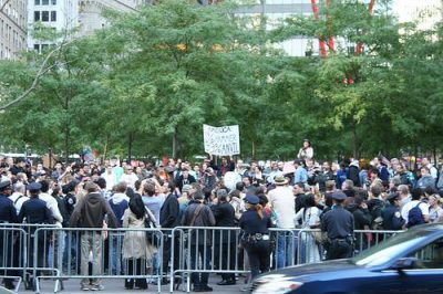 Occupiers in New York City are joined by indignant people across the world. Photo by BlaisOne.