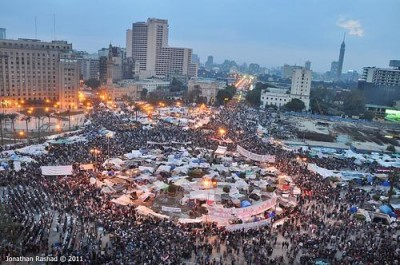 Tahrir Square was part of a modern intifada, also known as the Arab Spring.