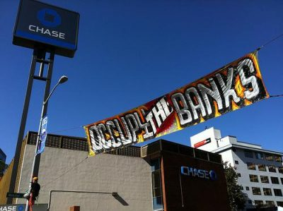 Oakland's Chase branch was recently occupied. Photo by Steve Rhodes.