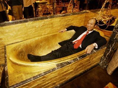 The golden lap of luxury