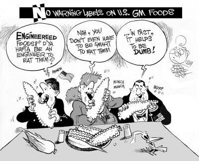 Engineered Foods, an OtherWords cartoon by Khalil Bendib.
