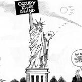 Occupy Ellis Island by Array