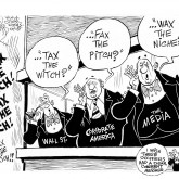 Tax the Rich, an OtherWords cartoon by Khalil Bendib.