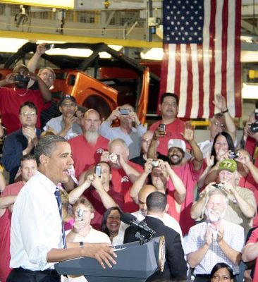 President Obama wants to align himself as a champion of the Middle Class. Photo by Chrysler Group.