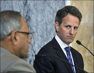 Tim Geithner is stuck in the Dark Ages. Photo by U.S. embassy in New Delhi.
