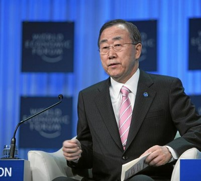 Ban Ki Moon, UN Secretary General. Photo by WEF/Flickr.