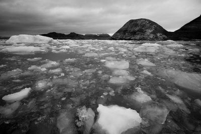Melting ice in the Arctic near the original Nowhereisland site (Stefan Cook/Flickr).