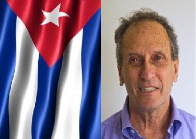 Saul and Cuban flag