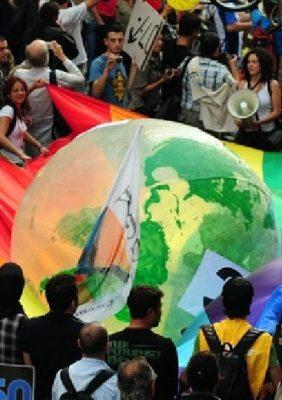Climate Protest Rainbow frame