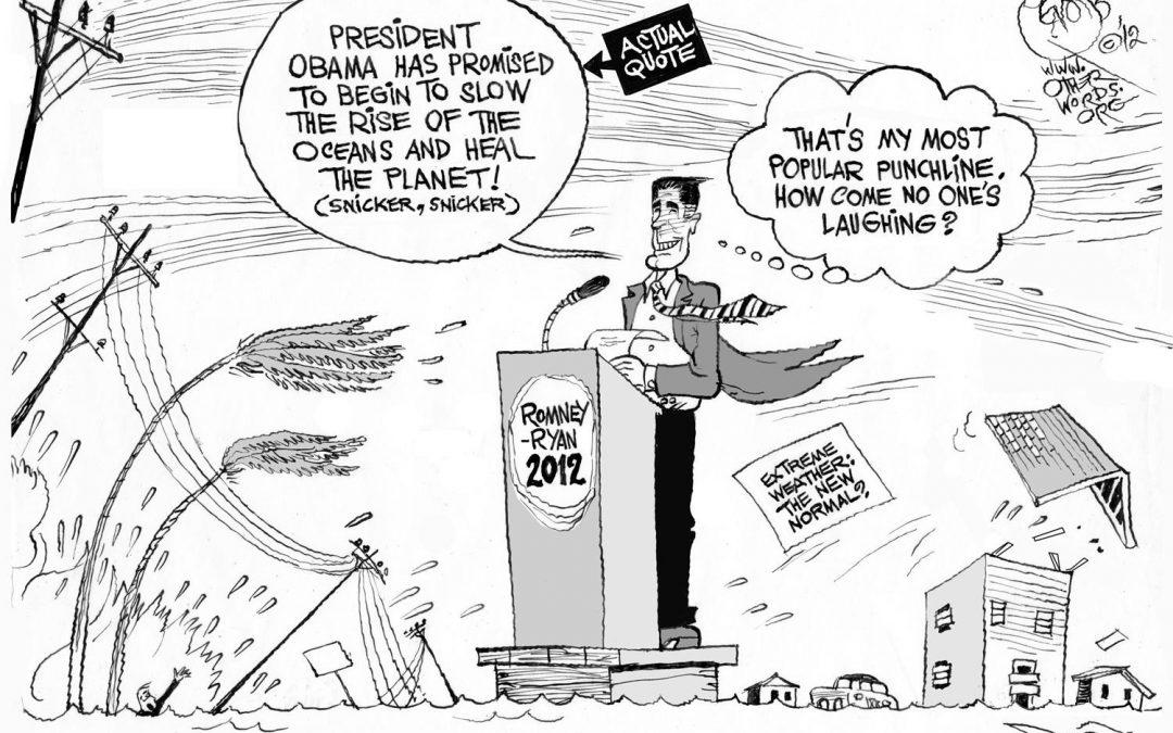 Sandy Trumps Romney's Climate Joke