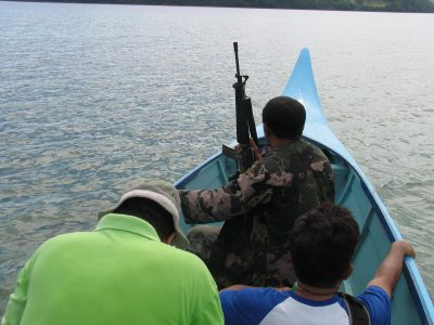 Rebels sailing to a conflict zone (photo by Andre Vltchek).