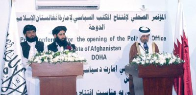 Taliban diplomatic office opened, then immediately closed in a spat over signs and labels.
