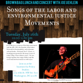 Brown Bag Lunch and Concert with Joe Uehlein