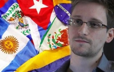 LA flags and Ed Snowden