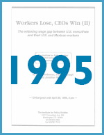 Executive Excess 1995: Workers Lose, CEOs Win (II)