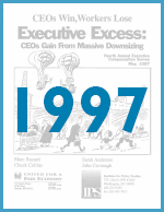 Executive Excess 1997: CEOs Gain From Massive Downsizing