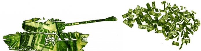 Pentagon spending tank