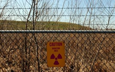 Radioactive sign at the West Lake Landfill