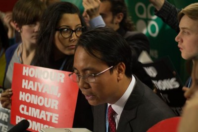 Philippine head of delegate Naderev Yeb Sano (photo: Adopt A Negotiator)