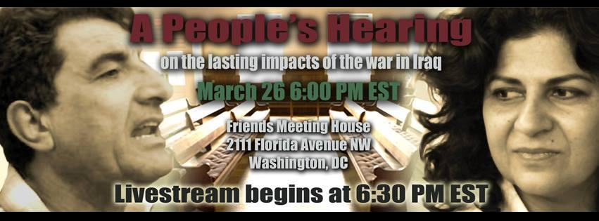 A People's Hearing on the Lasting Impact of the Iraq War
