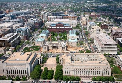 Aerial View of Washington, DC