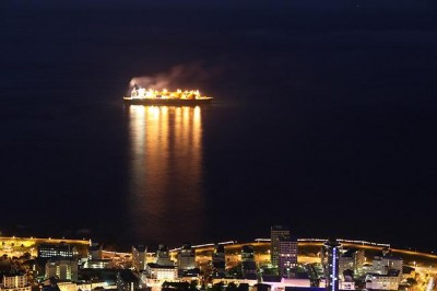 A liquefied natural gas carrier near Sea Point, South Africa. (Derek Keats/ Flickr)