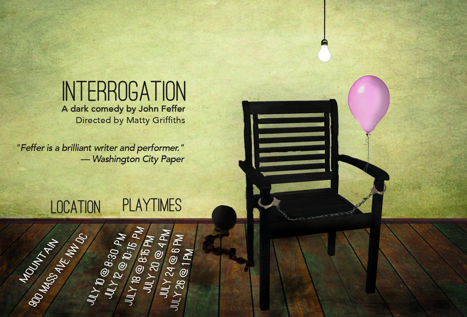 "Art Event: ""Interrogation"" – John Feffer"