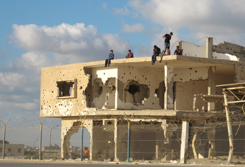 Israel Bombing Gaza Building