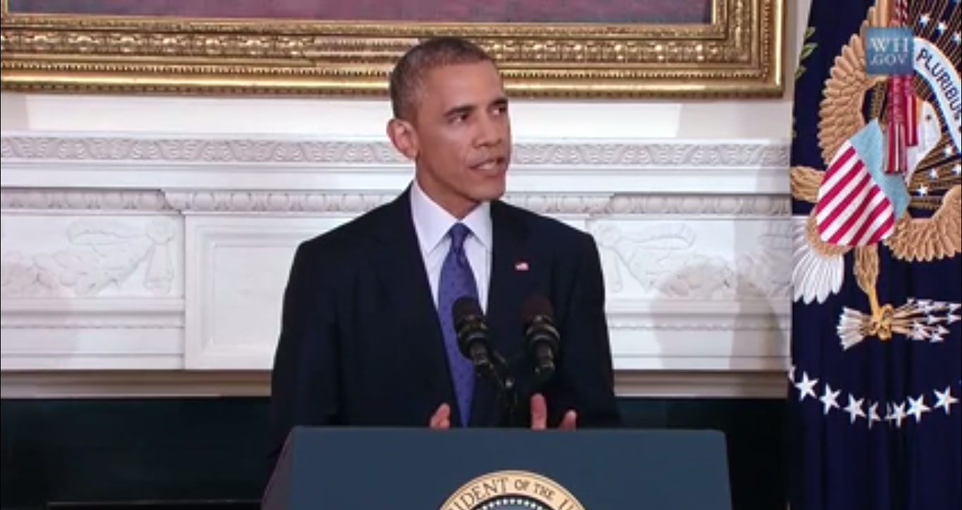 President Obama announces Iraq air strikes