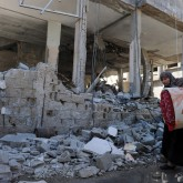 Destroyed Gaza building