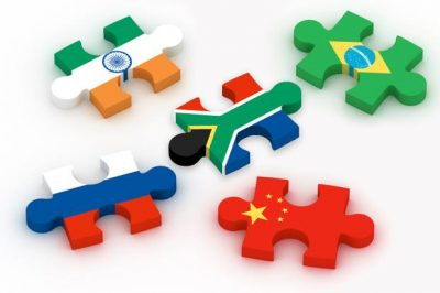 BRICS flags as puzzle pieces